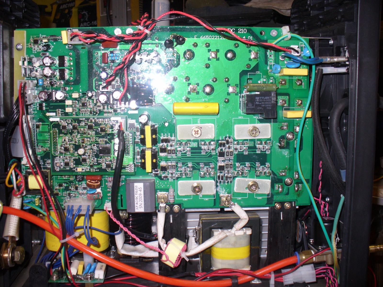 внутренности JLT AC DC TIG210