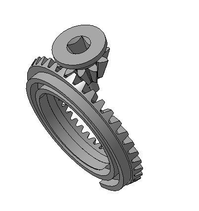 Сборка спираль шестерня