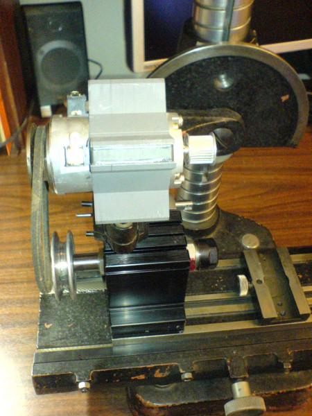 компоновка шпинделя и мотора, вид спереди