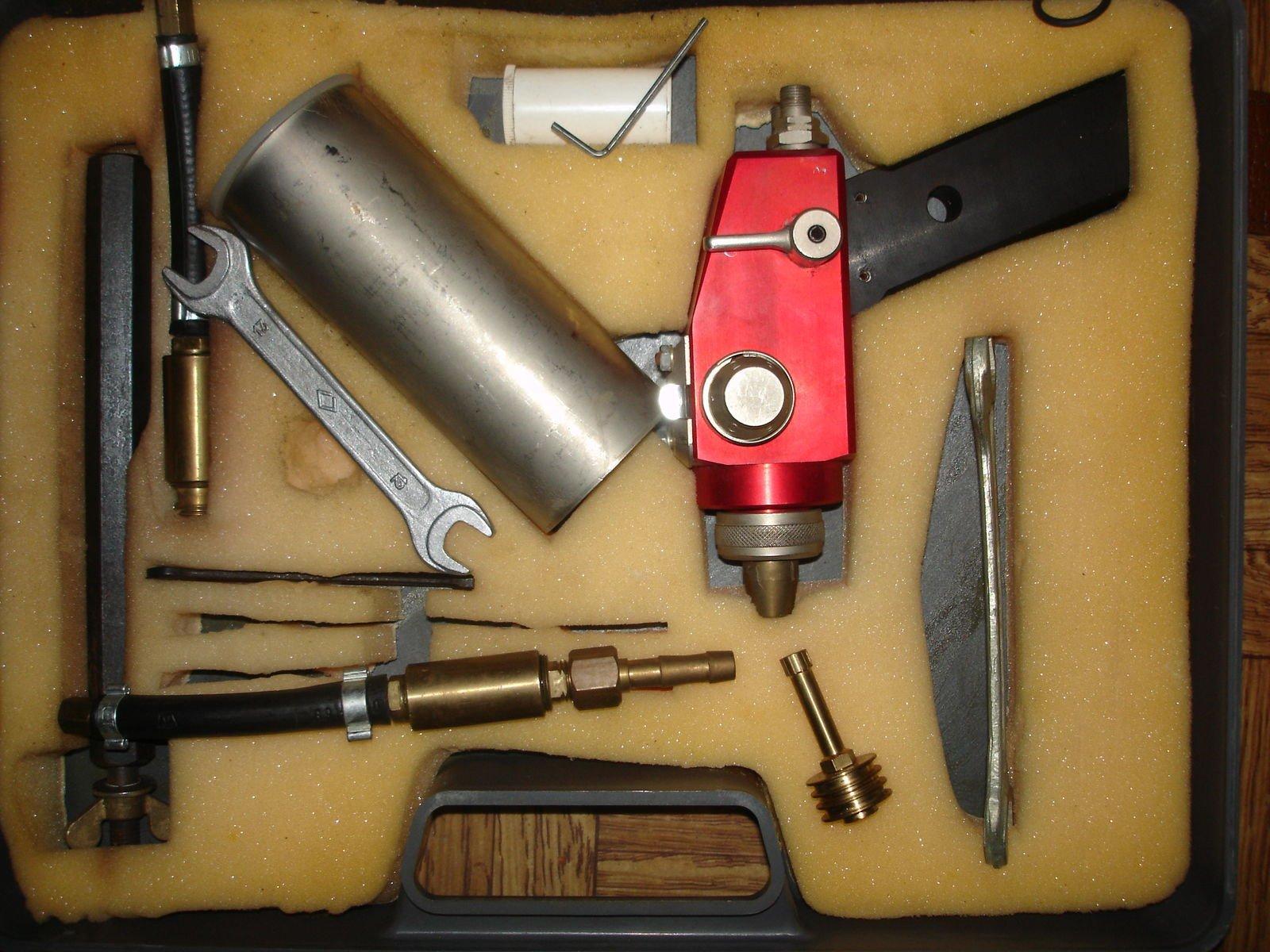 пистолет для газотермического напыления, вид сверху