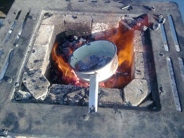 Фото0202 Самодельный Горн из газовой плиты