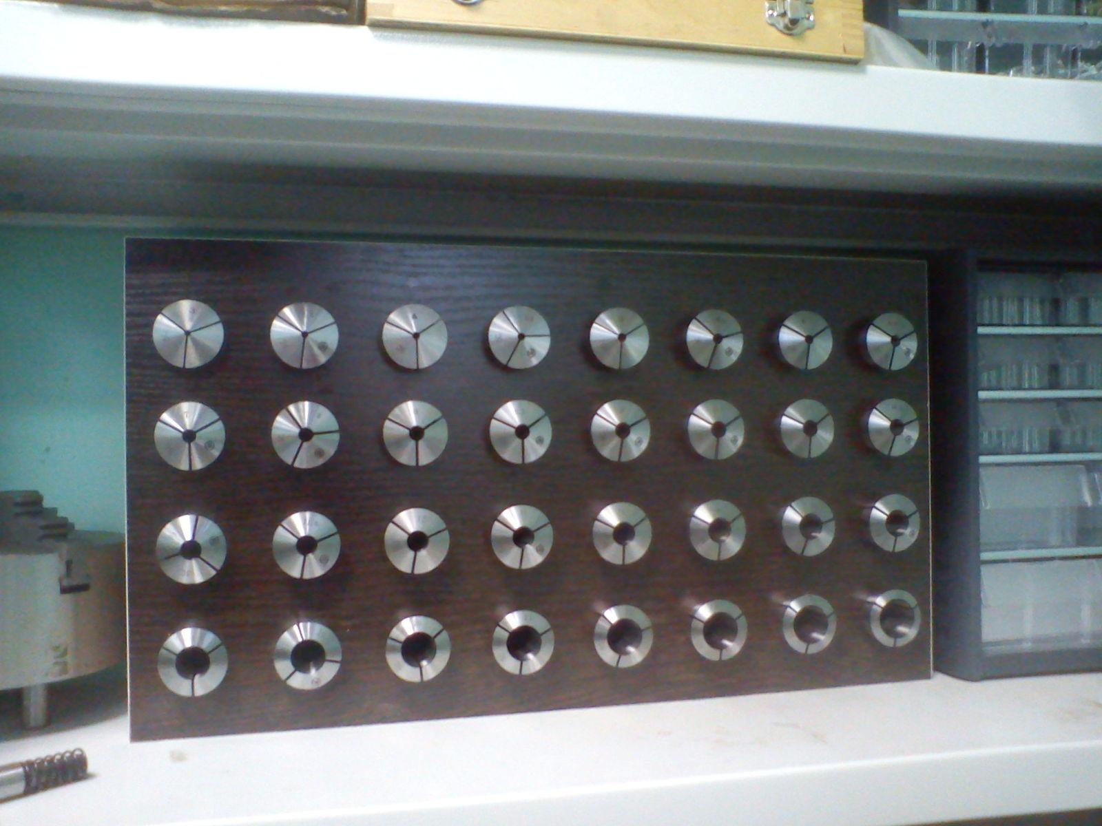 Цанги от 3 до 22 мм с 3 до 12 через 0.5 мм