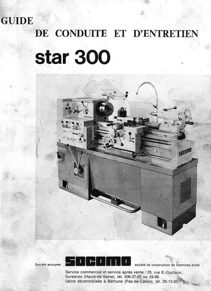 Socomo Star 300 - токарно-винторезный станок, Франция