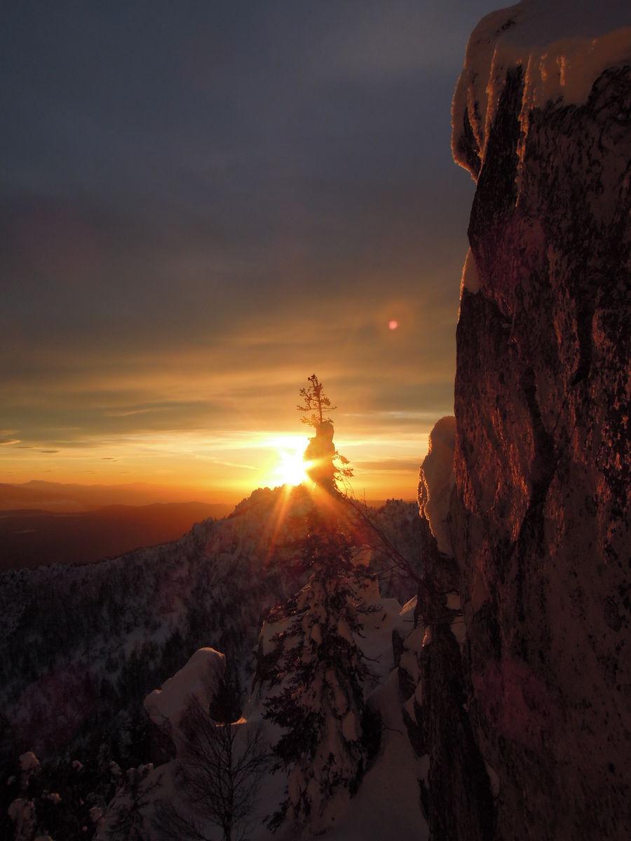 Закат с Митькиных скал