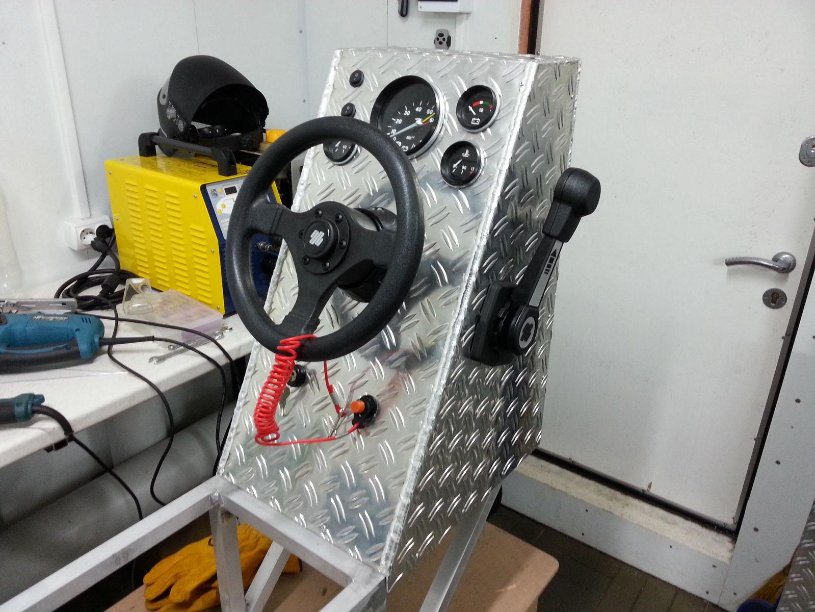 Лицевая панель в сборе с машинкой газ/реверс