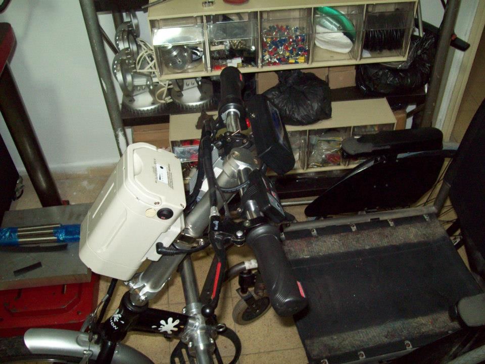 Электро приставка к инвалидному креслу