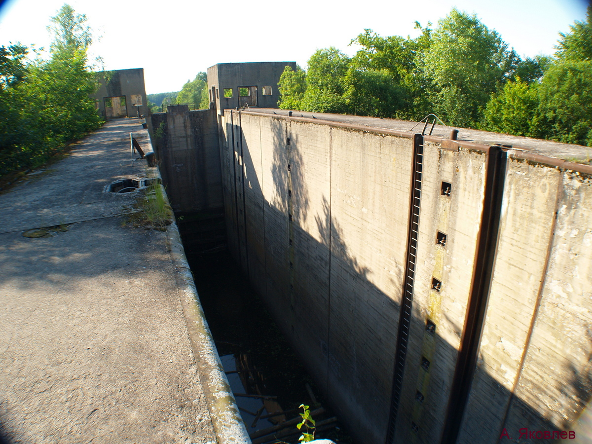 Шлюз Мазурского канала, Калининградская область.