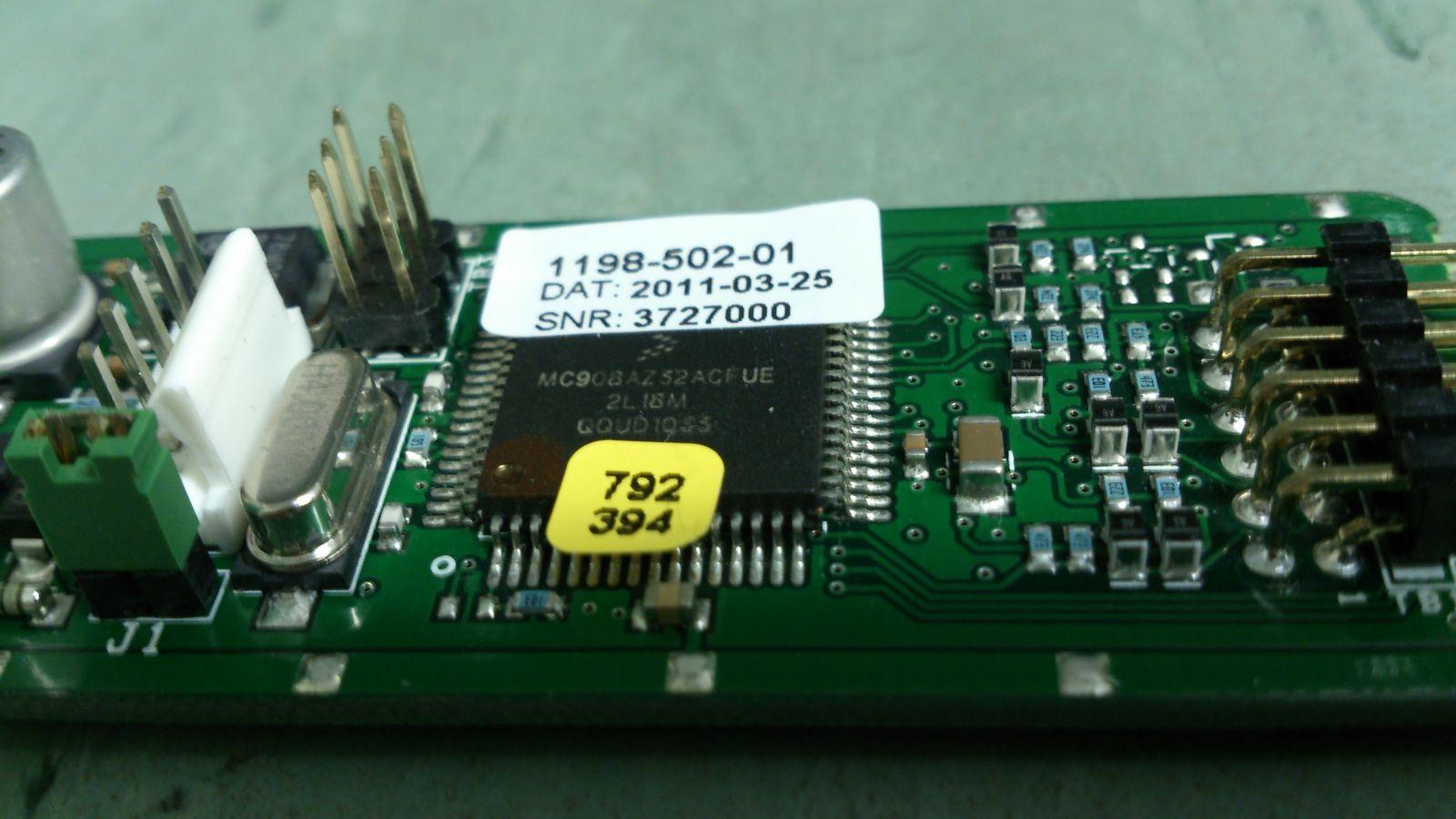 Плата управления CAN-шиной-микропроцессор без наклеек