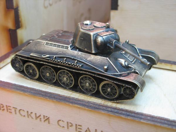 Модель танка Т-34-76  из бронзы от Золотая антилопа