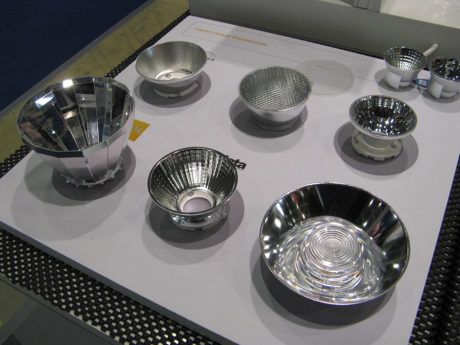 Отражатели под разные углы для светодиодных модулей