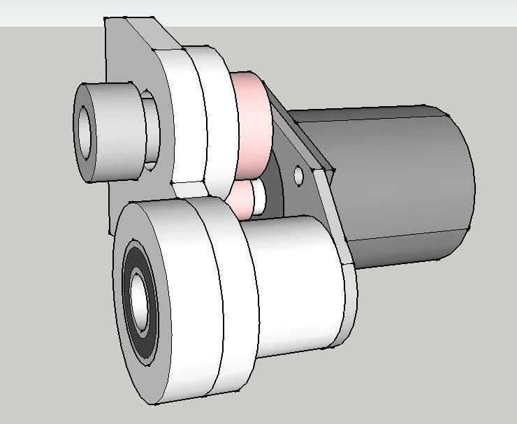 3D модель продольного привода