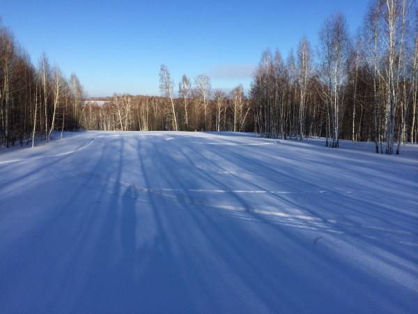 следы на снегу)))