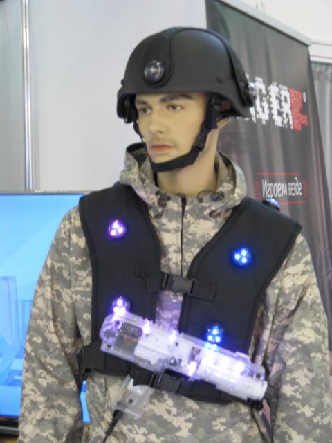 Жилет с ИК датчиками для военных игр.