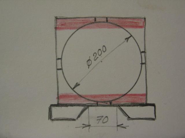 Разборная плита переднего подшипника для С-1 (вариант конструкции)