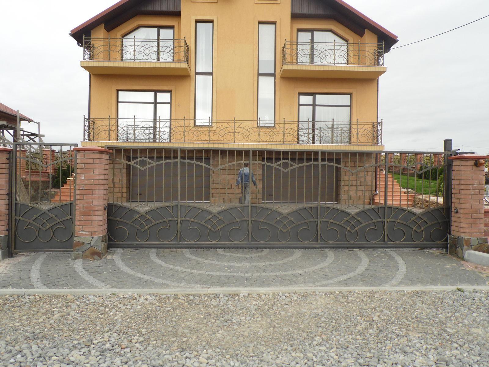 Откатные ворота (стиль 1)