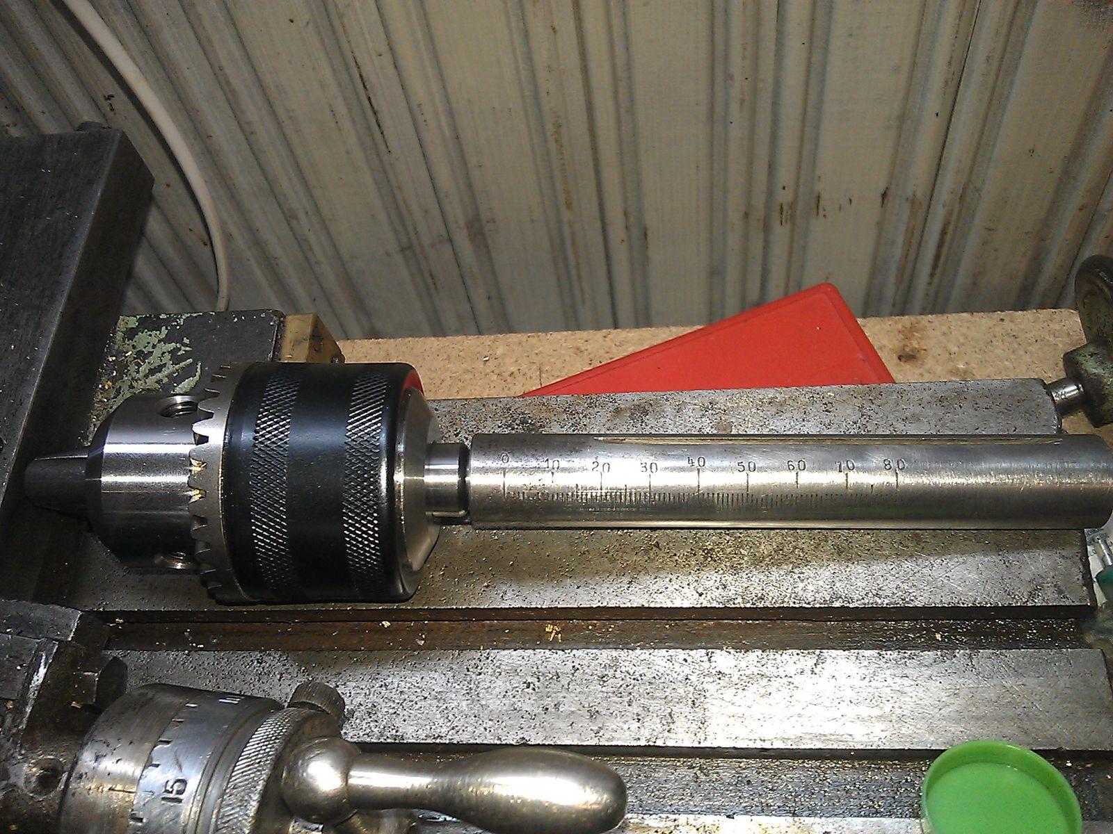 Оправка MT2 - B16 и патрон в пиноли задней бабки