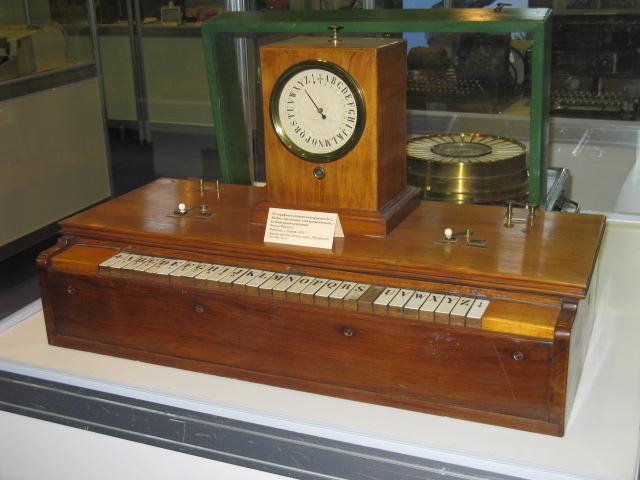 Телеграфный аппарат конструкции Б.С. Якоби стрелочный электромагнитный