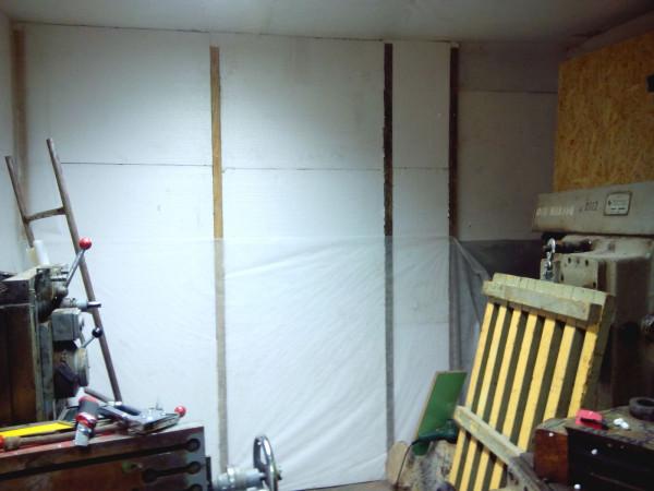 Дальняя стена утеплитель