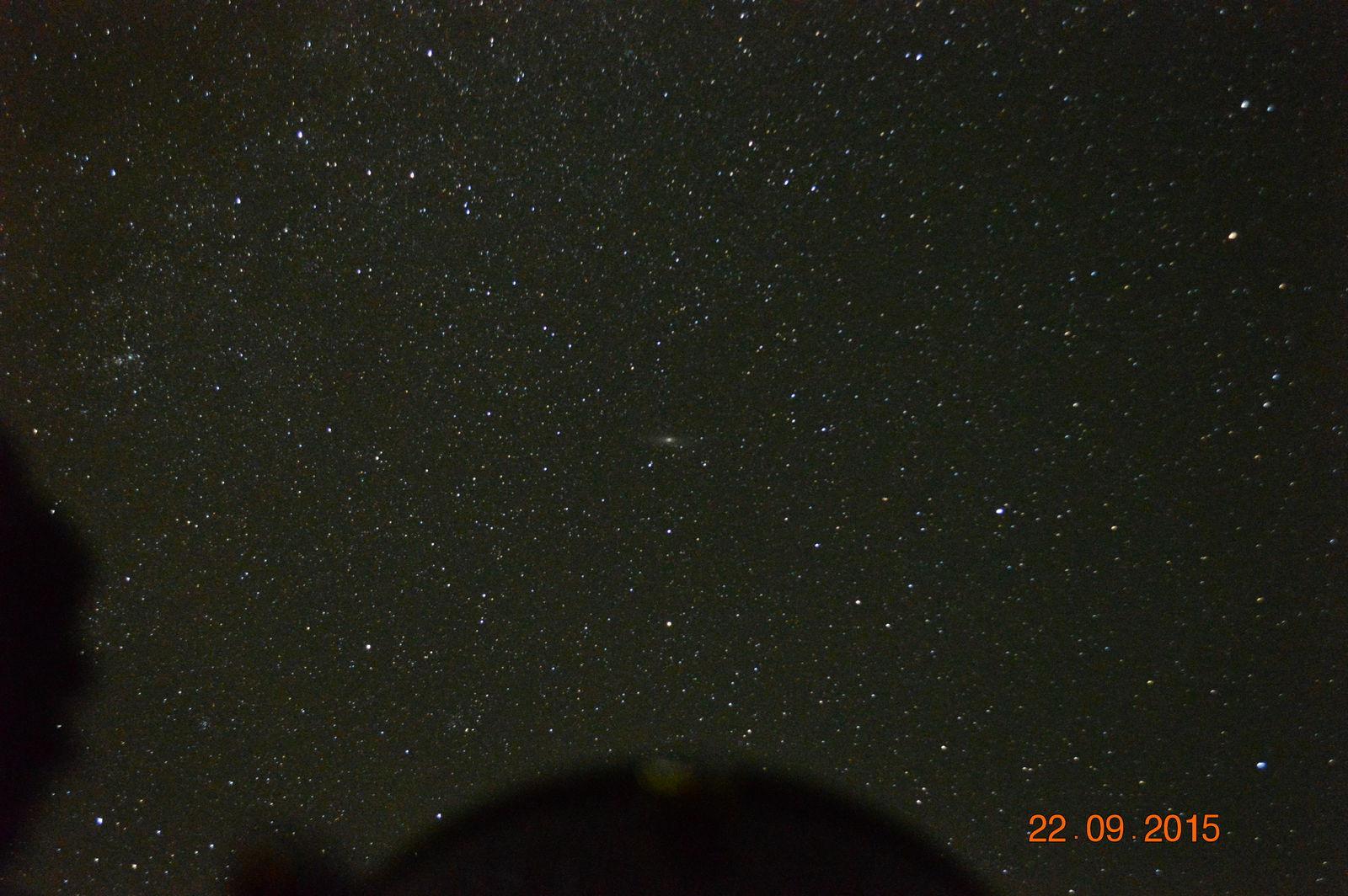 Андромеда с выдержкой без телескопа