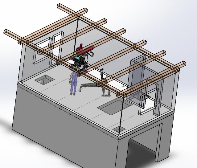 Схемка мастерской, перекрытие 2ого этажа