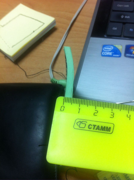 Прошита пачка бумаги толщиной 5 мм
