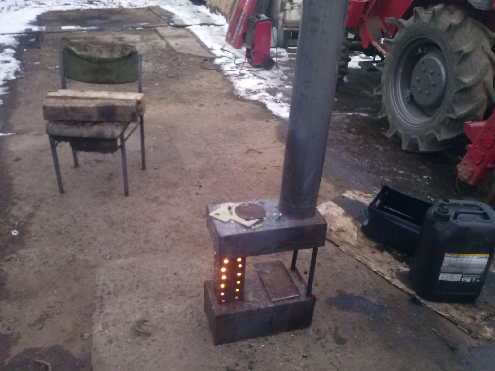 изобретение века- масленая печка
