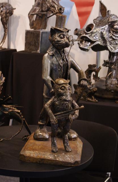 Металлическая скульптура.