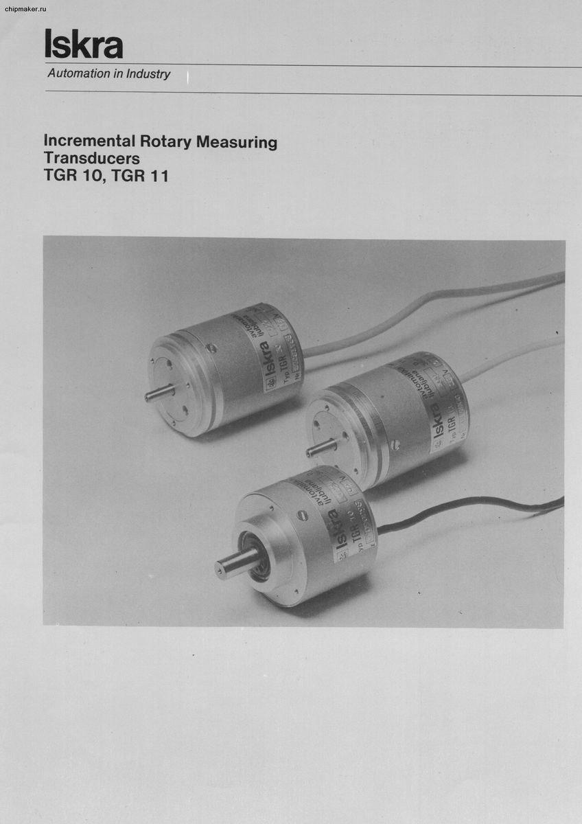 Incremental Rotary Measuring Transducers TGR 10, TGR 11 Iskra