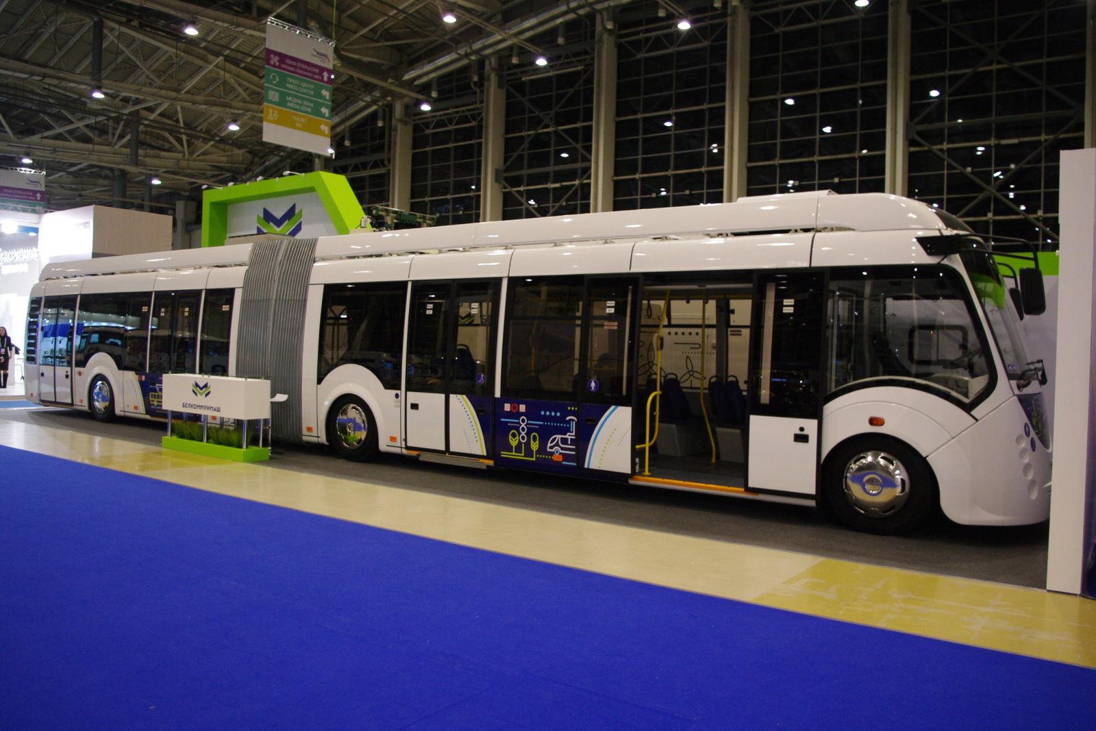 Белорусский двухсекционный электробус Vitovt Е433
