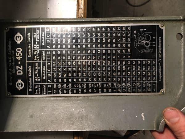 Токарный станок Simonet DZ450