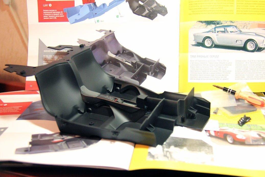 №16, монтаж центральной консоли, передней перегородки