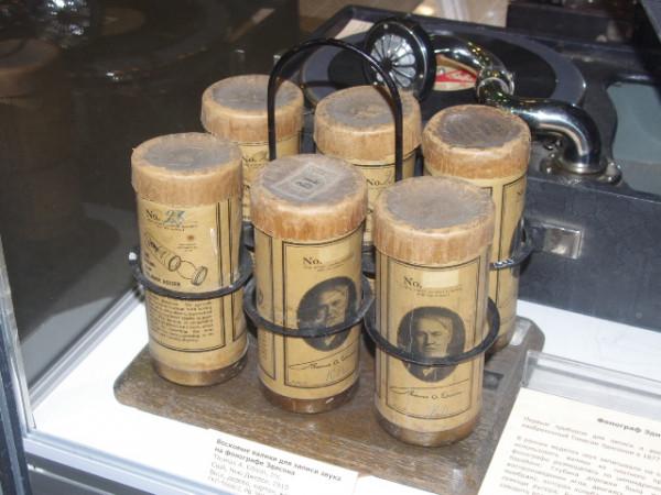 Восковые валики для записи звука на фонографе Эдисона. 1910г., США
