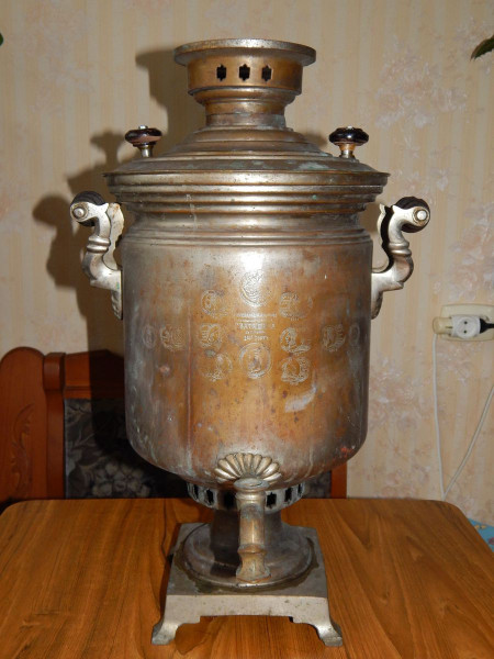 Самовар баночка на 8 литров медальная