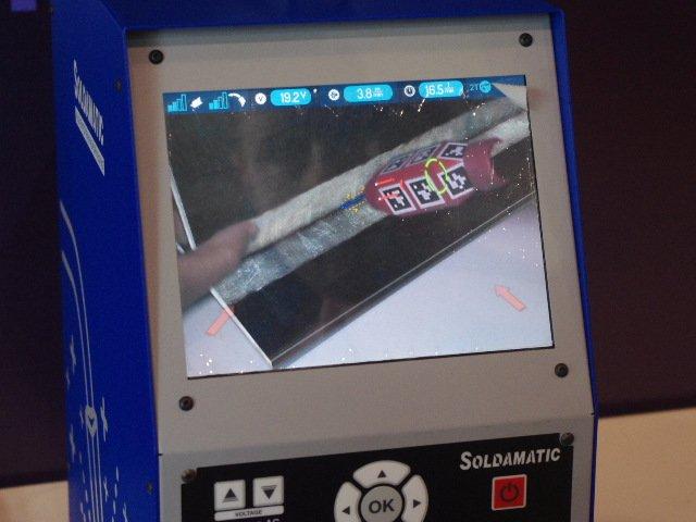 Картинка на экранах симулятора: в маске; на системном блоке и демонстрационном экране.