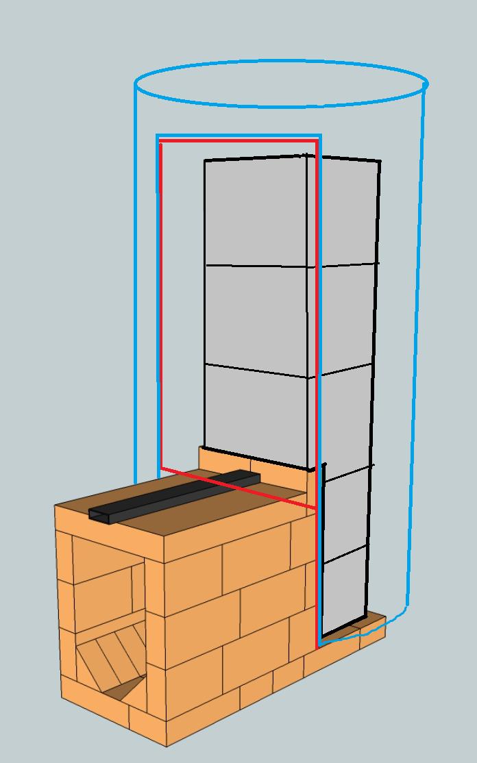 Ракетная печка по типу Берга.