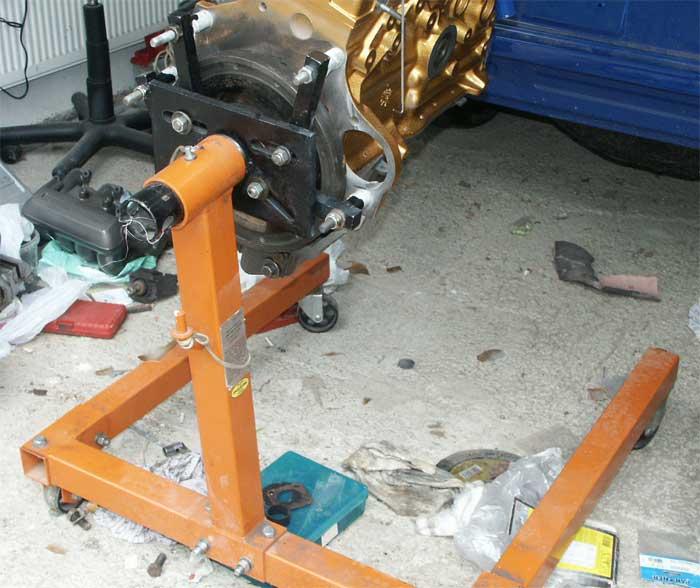 Стенд для ремонта двигателя своими руками 160