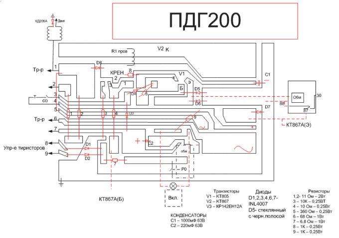 Схема циклона пдг 200