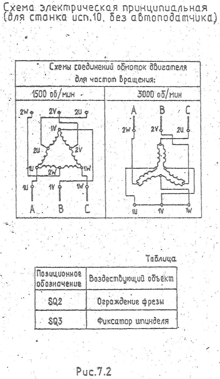 Двухскоростной асинхронный двигатель схема подключения