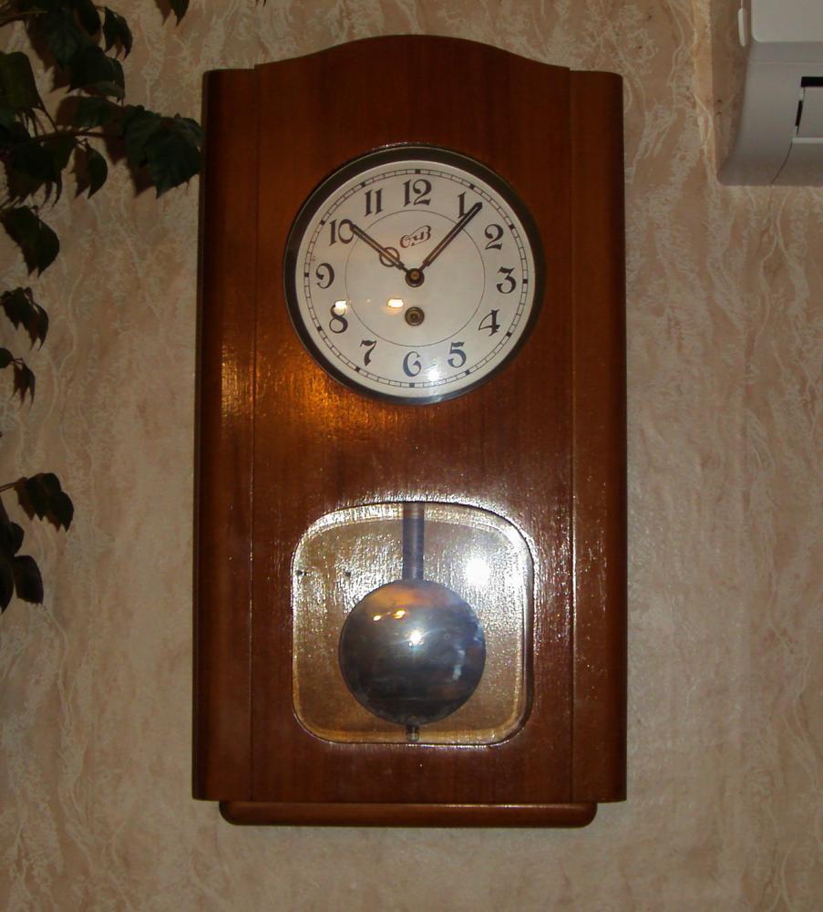 Ремонт настенных механических часов 5