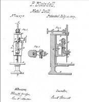 Ранняя Концепция Camelback Drill Press, патент 66,642, P.Blaisdell - Worcester, MAS, Jul. 16, 1867.jpg