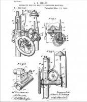 Стопор для автоподачи сверлильного, патент 600,598, A.P.Sibley - South Band, IND, Mar. 15, 1898.jpg