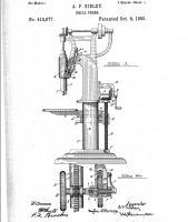 Концепция Camelback Drill Press, патент 412,677, A.P.Sibley - South Band, IND, Okt. 08, 1889.jpg