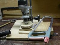 Шкивы из фанеры и прочие способы ремонта станков на коленке: точим шкив 1.JPG