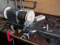 Шкивы из фанеры и прочие способы ремонта станков на коленке: точим шкив.JPG