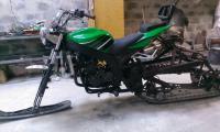 Снегомотоцикл и обычный мотоцикл. И ещё кое что: IMAG0107.jpg