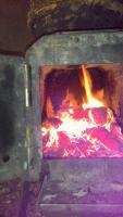 Буржуйка в гараж!: Пламя в топке.jpg